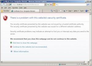 Running WCF Service over SSL