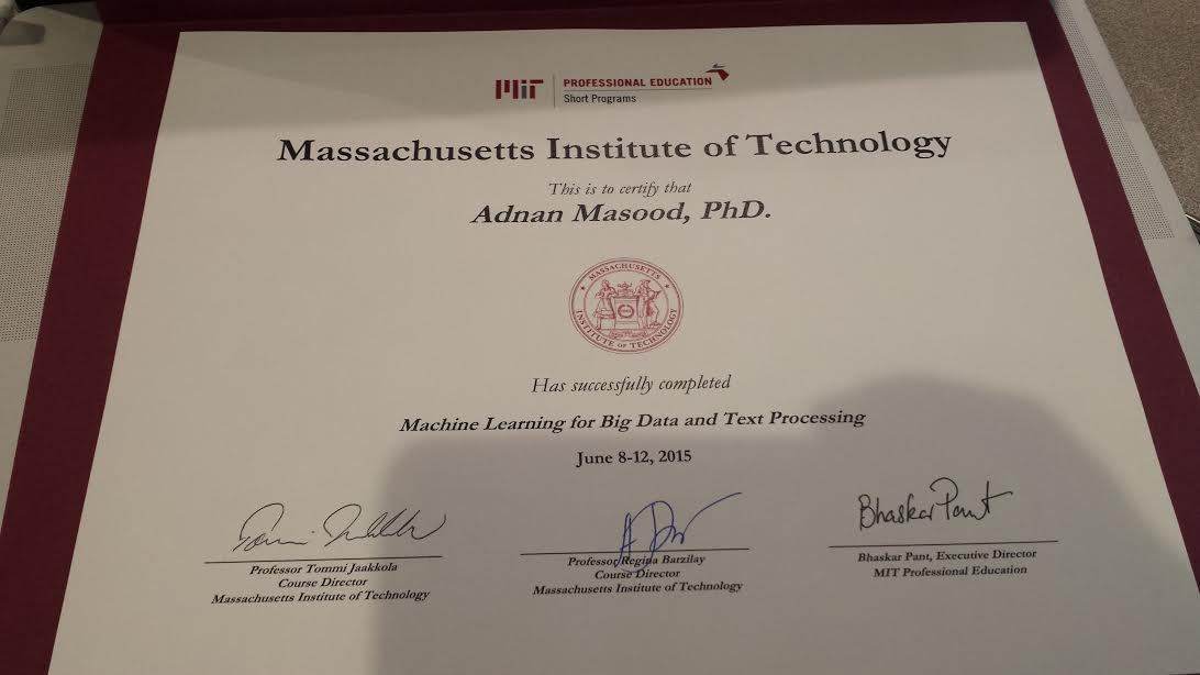 Mit Machine Learning For Big Data And Text Processing Class Notes