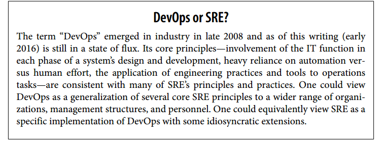 DevOps or SRE Site Reliability Engineer vs. DevOps