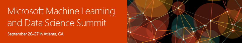 Microsoft Machine Learning & Data Science Summit