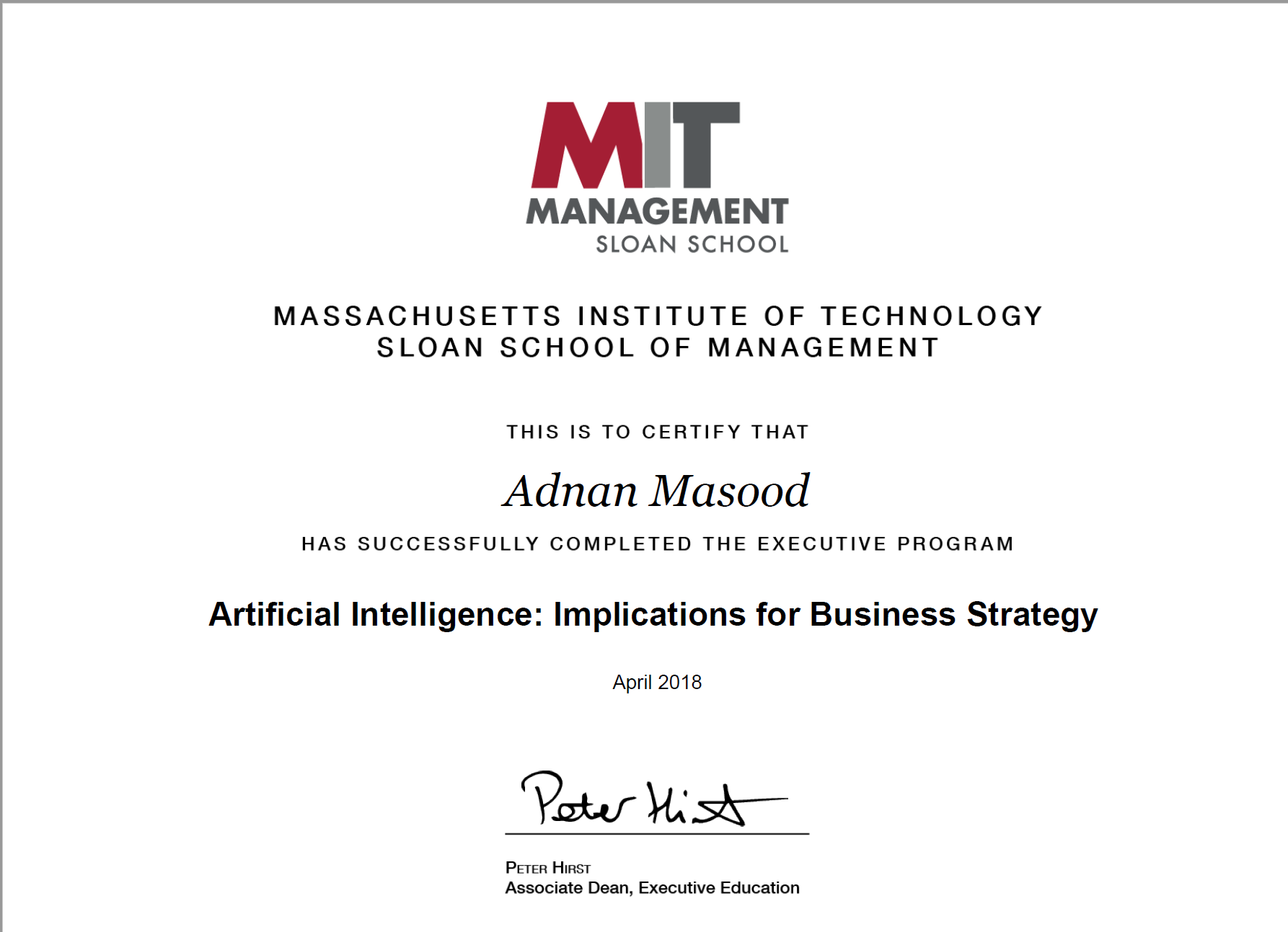 Thoughts On Mit Sloan Mit Csail Artificial Intelligence